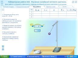 лабораторная работа изучение колебаний маятника