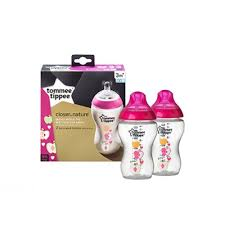 Tommee Tippee Pink Decorated Bottles Tommee Tippee 100ml Bottle 100 Pk Pink Decorated 85