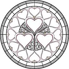 Small Picture Free Printable Stained Glass Coloring Pages Wallpaper Download