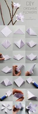 How To Make Flower With Paper Folding Origami Top Best Origami Flowers Ideas On Paper Folding White