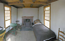 henry david thoreau  reconstruction of the interior of thoreau s cabin