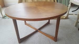 vintage retro sunburst round coffee table mcintosh of kirkcaldy 60s mid century