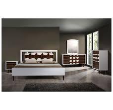 Seattle Bedroom Furniture Zuo Modern Seattle King Bed Walnut White 800310 Modern