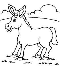 Small Picture Free Printable Donkey Coloring Pages For Kids