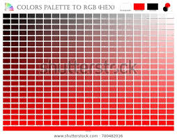 Rgb Hex Chart Color Palette Mixer 3 Color Black Stock Vector Royalty Free