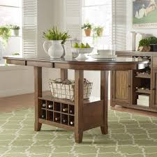 Tuscany Brown Wood Wine Rack Counter Height Extending Dining Table by  iNSPIRE Q Classic - Free Shipping Today - Overstock.com - 20216621