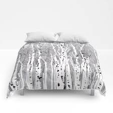 birch trees comforters by