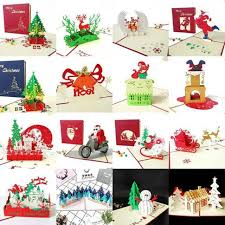 Merry Christmas Cards 3d Pop Up Christmas Tree Laser Cut New Year Gift Cards