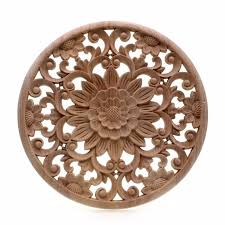 wooden appliques for furniture. RUNBAZEF Carved Flower Carving Round Wood Appliques For Furniture Cabinet Unpainted Wooden Mouldings Decal Decorative Figurine