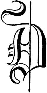 D D Item Template Decorative Letter D Clipart Etc