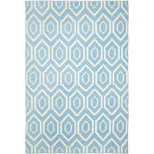 safavieh dhurries blue ivory 6 ft x 9 ft area rug