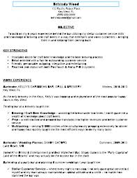 Examples Of Bartending Resumes Examples Of Resumes