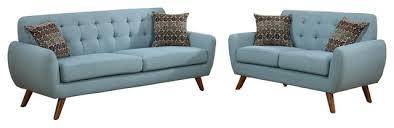 mid century modern loveseat. Modern Sofa Loveseat Set (Laguna) Mid Century N