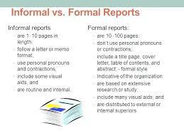 Formal Business Report Template Business Report Format Sample
