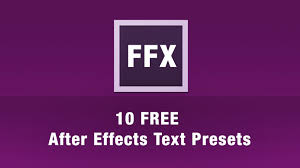 After Effects Animation 10 Free After Effects Text Animation Presets
