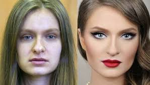 7 shocking before and after makeup transformations