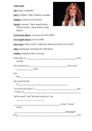 celebrities biographies worksheets