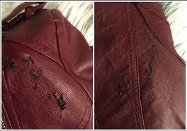 photo of red bicast leather and pu leather