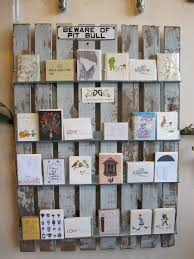 Free Standing Christmas Card Holder Display Greeting Card Display Racks For Craft Shows Rustic Display Of 48