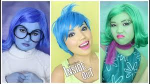 inside out makeup tutorial disgust sadness joy anger fear