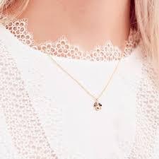 estella bartlettgold plated blue pearl bug necklace eb2423c