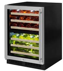 marvel 24 high efficiency dual zone wine refrigerator panel ready frame glass door
