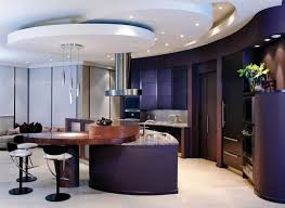 modern kitchen colors 2017. Purple Kitchen Color Trends 2017 With Modern Lighting Options Modern Kitchen Colors O
