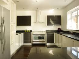White Galaxy Granite Kitchen Contemporary White Kitchen With Black Star Galaxy Granite Worktops