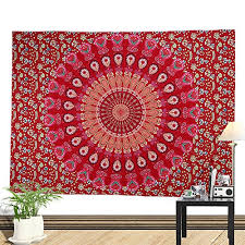 top 22 red tapestry wall hangings