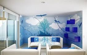 ... Floral Wall Art Decor Ideas For Small Living ; Beautiful Wall Painting  Designs For Living Room ...