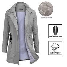 wild blue bosbary raincoats waterproof active outdoor hooded trench coats women s lightweight rain jacket lnvuso