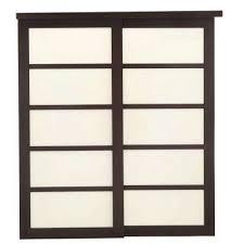 sliding closet doors for bedrooms. 2240 Series Espresso 5-Lite Composite Grand Sliding Door Closet Doors For Bedrooms