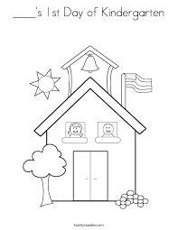 Small Picture Best First Day Of Kindergarten Coloring Page 46 With Additional