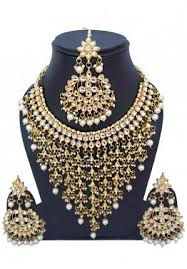 indian jewelry sets golden white kundan and pearl necklace in usa