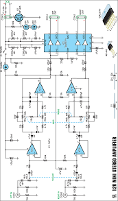 12v 20w stereo lifier circuit schematic