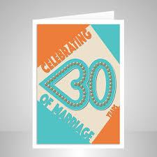 30th Wedding Anniversary Card Pearl Anniversary Stuartconcepts