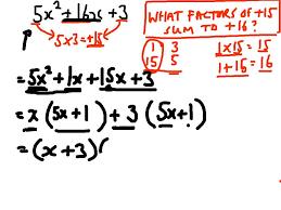factorising quadratics with more than 1 x squared