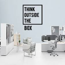 office wall decal. dream on walls think outside the box office wall decal