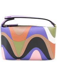emilio pucci abstract print makeup bag multicolour 008 women