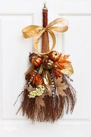cinnamon broom decorating ideas rustic fall cinnamon broom wreath thrift store upcycle