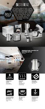 Kitchen Appliances Singapore Aztech Silvertone Temperature Controlled Electric Kettle Aek6630