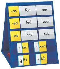 Classroom Pocket Charts Learning Resources Double Sided Tabletop Pocket Chart 5 Pockets