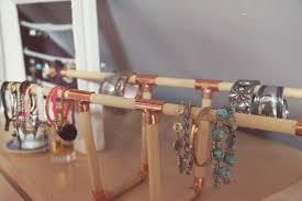 diy copper and wood bracelet holder spring in fialta