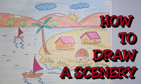 1800x1080 drawing tutorial how to draw scenery step by step drawing for