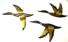 wooden flying geese wall art