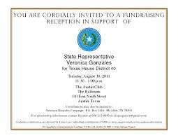 Political Fundraising Invitations Political Fundraiser Invitation Template Bilir