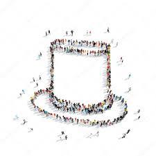 Groep Mensen Vorm Hoed Retro Stockfoto Tai11 102692364