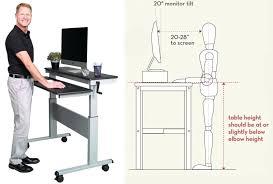 desk ideal standing desk height ideal standing desk monitor height ideal standing desk height calculator