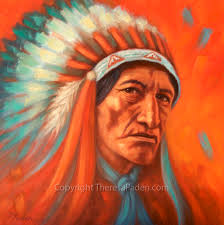 southwest native american indian art oil painting by theresa paden