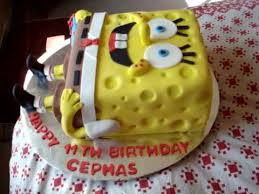 Spongebob Square Pants Fondant Birthday Cake Youtube